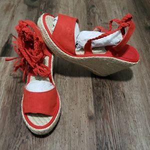 Yoki💥 wedges Espadrilles ankle strap lace up